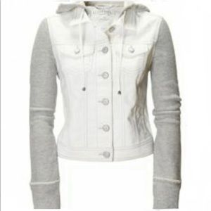 Aeropostale White Denim Jean Cropped jacket